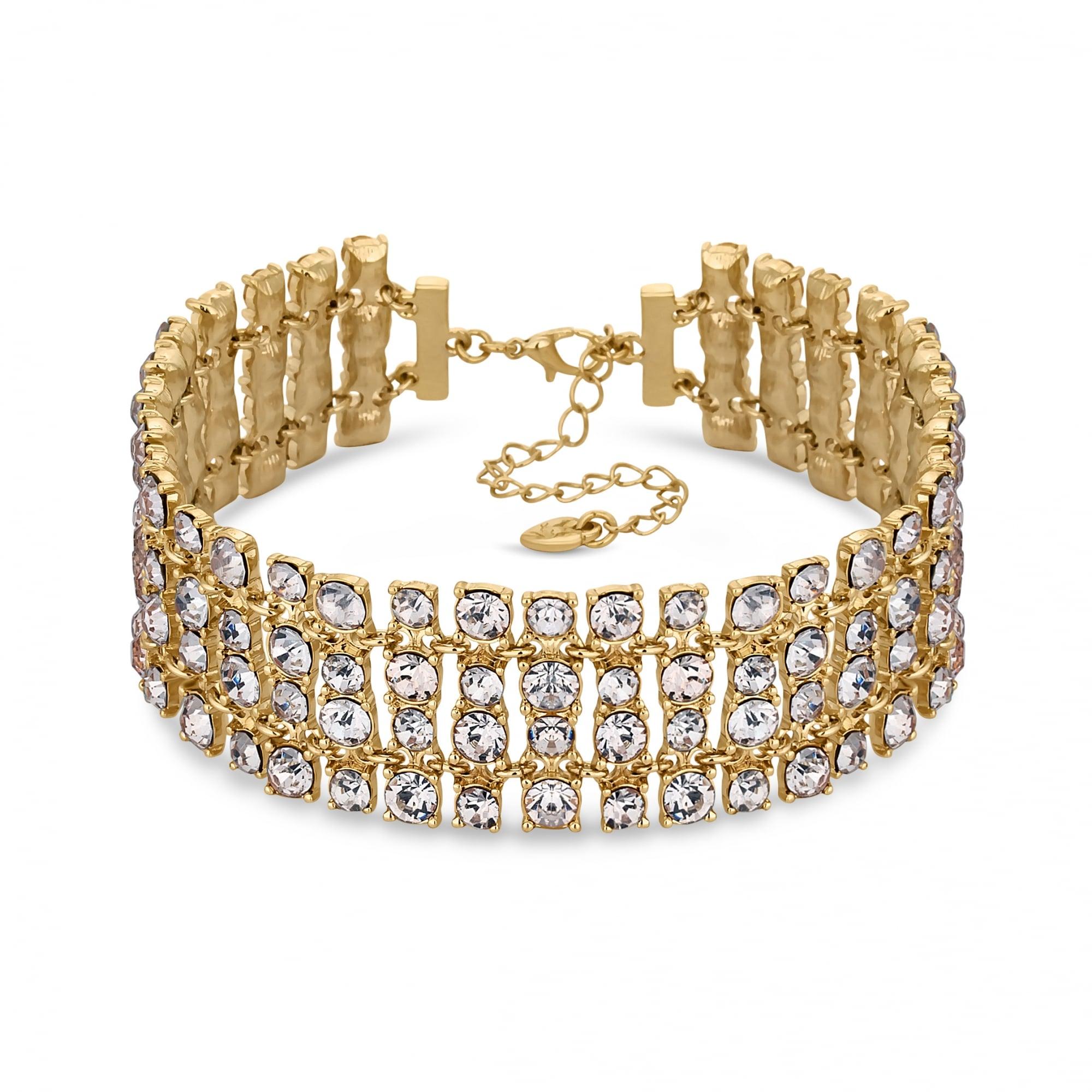 19441da7c26 Lipsy Gold Crystal Statement Choker Necklace - Sale from Jon Richard UK