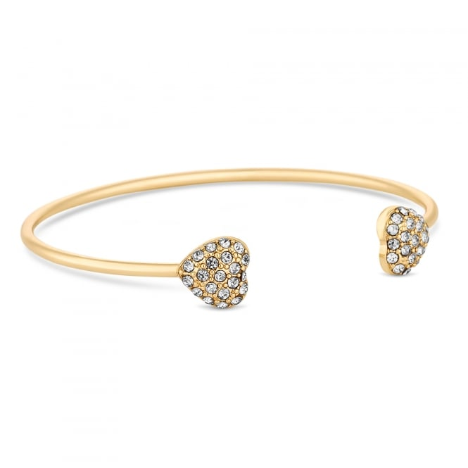 Lipsy Gold Heart Charm Bangle