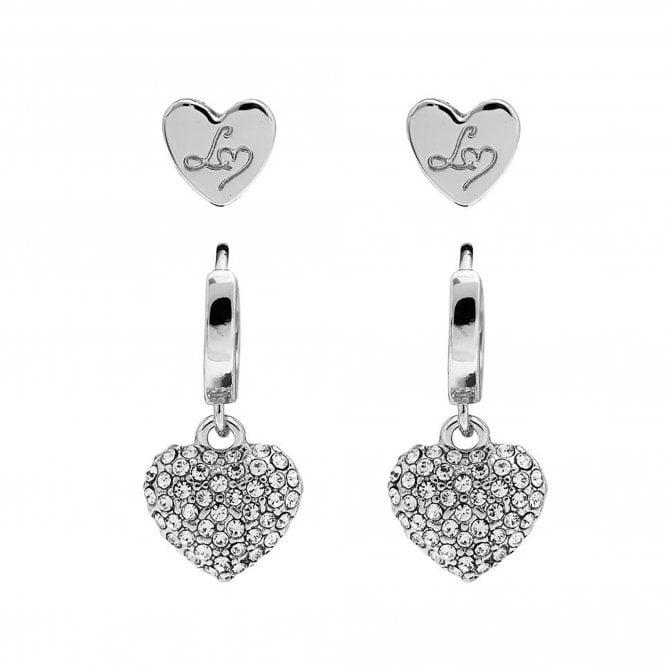 Jewellery Women's Lipsy Gold Heart Padlock Earrings - Pack of 2