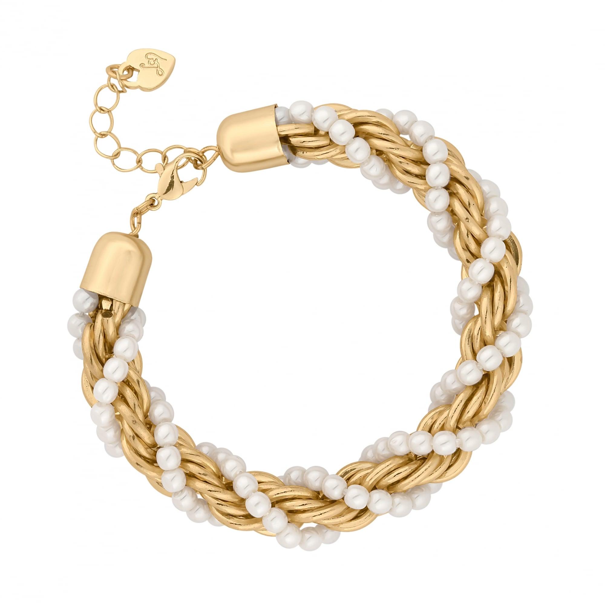 28a532b0c88 Lipsy Gold Pearl Twist Chain Bracelet - Jewellery from Jon Richard UK