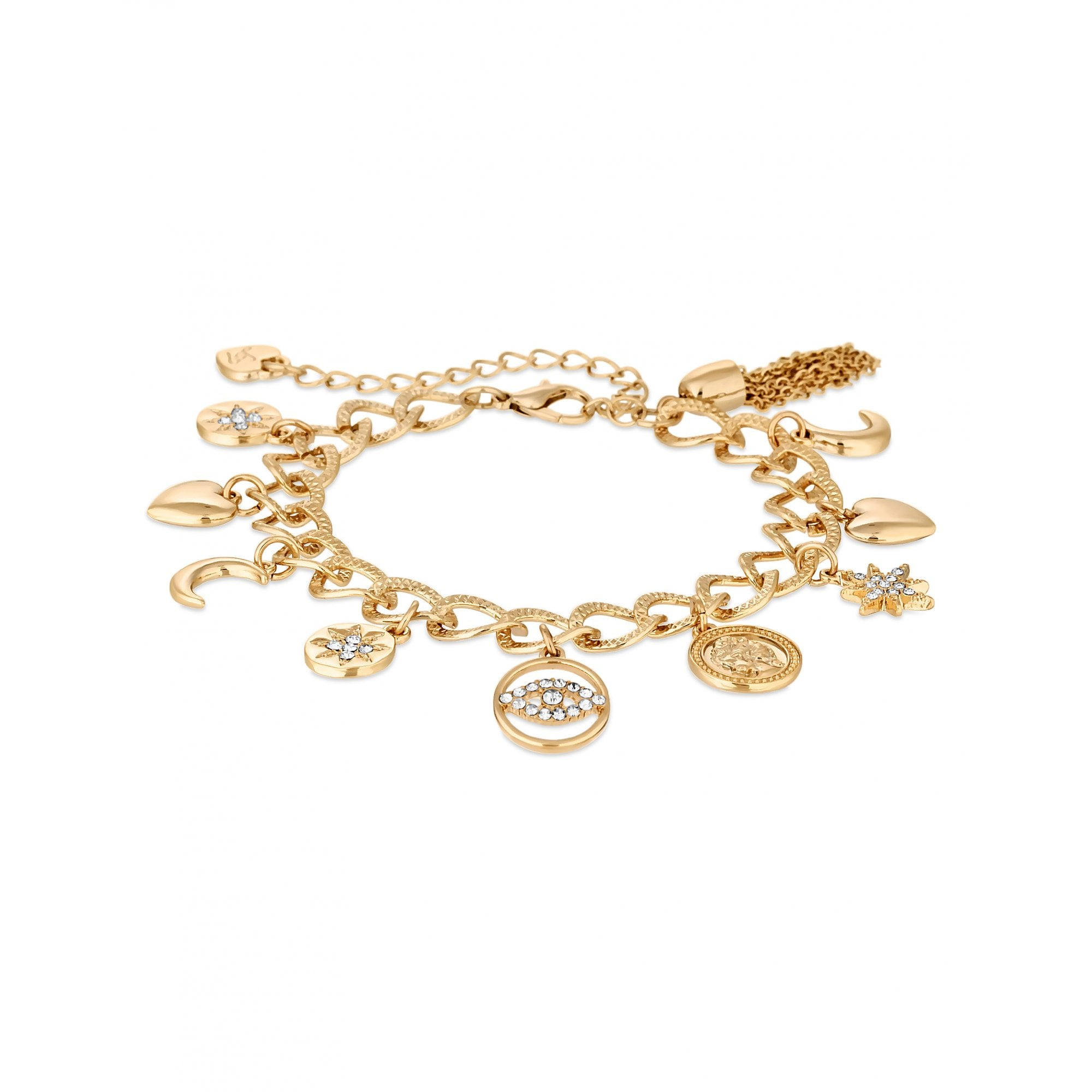 517a82903cc Lipsy Gold Plated Clear Celestial Charm Bracelet - Jewellery from ...
