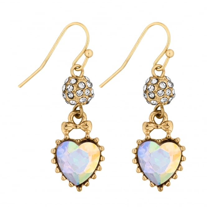 Lipsy Heart charm drop earring