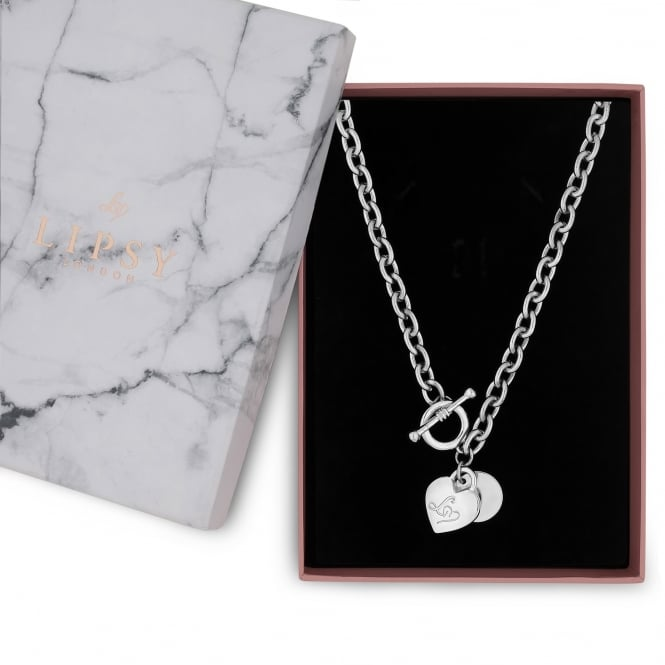 Silver Heart Charm Gift Necklace