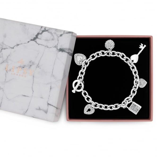 Silver Multi Charm Gift Bracelet
