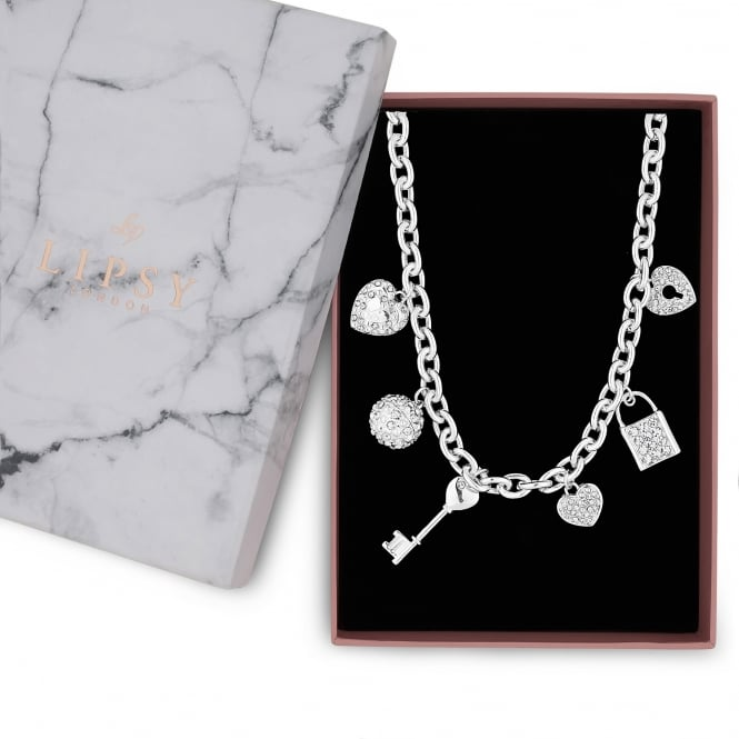 Silver Multi Charm Gift Necklace