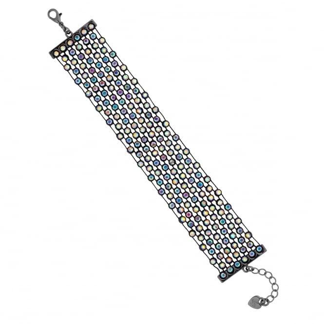 Black Rainbow Crystal Bracelet