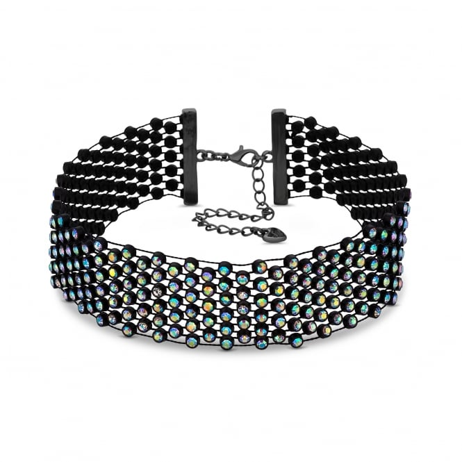 Black Rainbow Crystal Choker Necklace