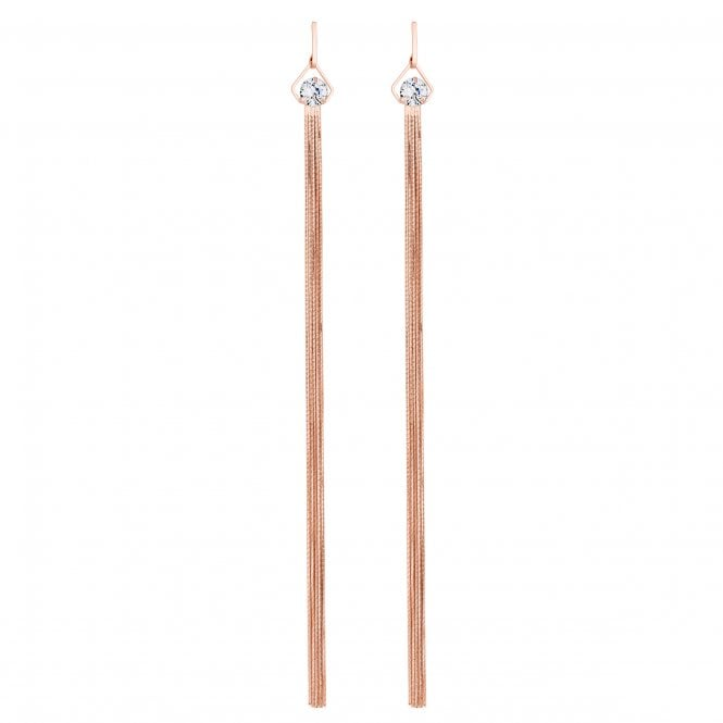 Rose Gold Statement Drop Earring