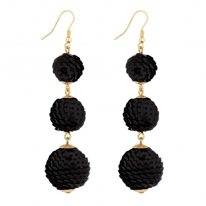 Lipsy Sequin Graduated Ball Drop Earring