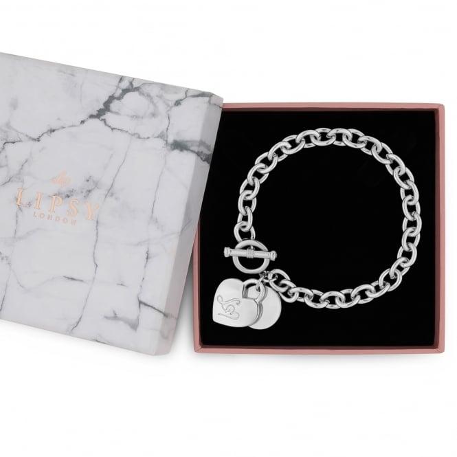 Silver Chain Heart Charm Gift Bracelet