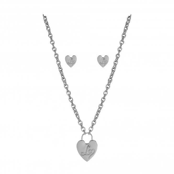 Lipsy Silver Chain Necklace And Earrings Set - Gift Boxed