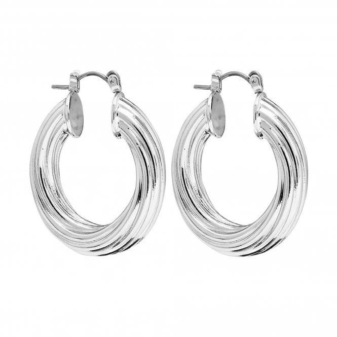 Jewellery Women's Lipsy Silver Diamond Cut Thick Hoop Earrings