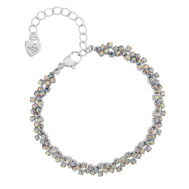 Silver Rainbow Crystal Bracelet