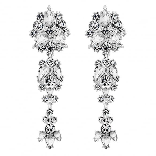 Silver Statement Crystal Drop Earring