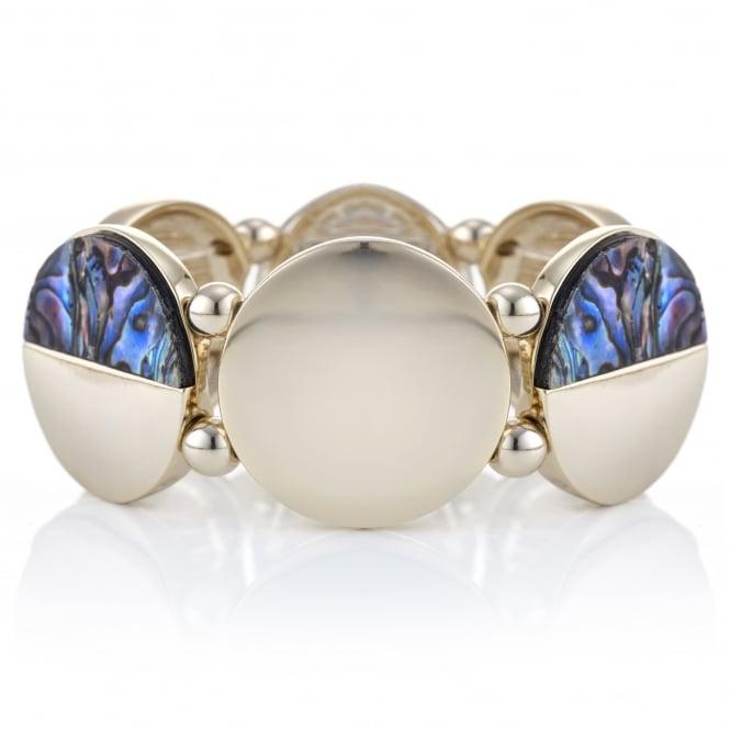 Abalone inspired half disc bracelet