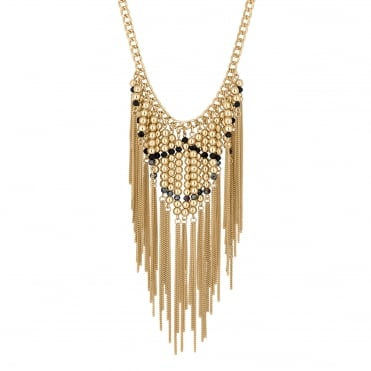 Beaded chain drop necklace