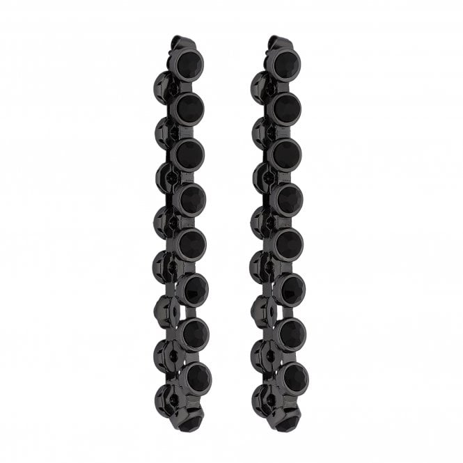 Black Crystal Looped Statement Earring