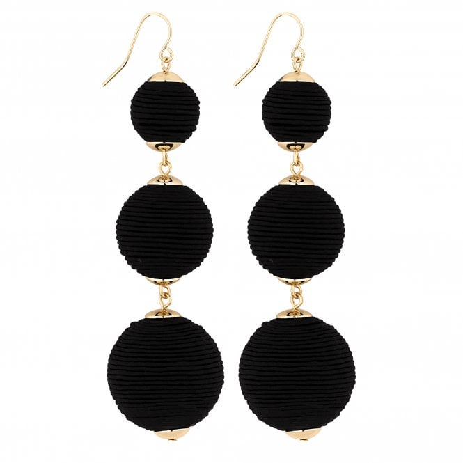 Black Graduated Orb Drop Earring