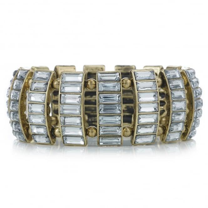 Crystal bar gold bracelet