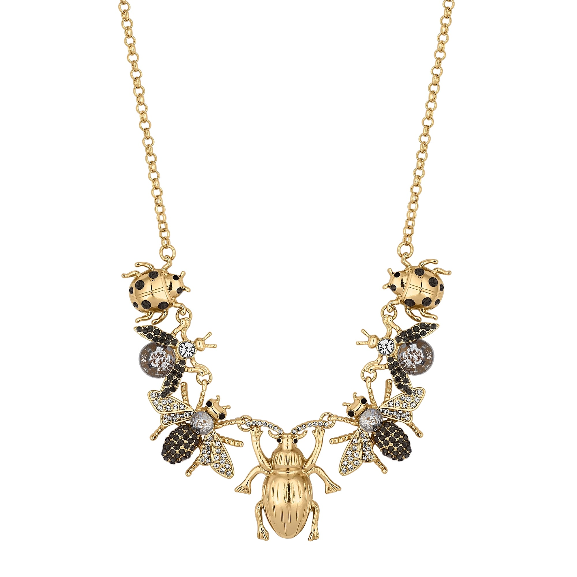 MOOD By Jon Richard Gold Crystal Bee Charm Statement ...