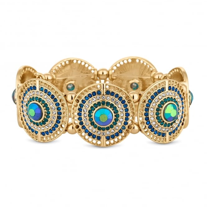 MOOD By Jon Richard Crystal disc bracelet