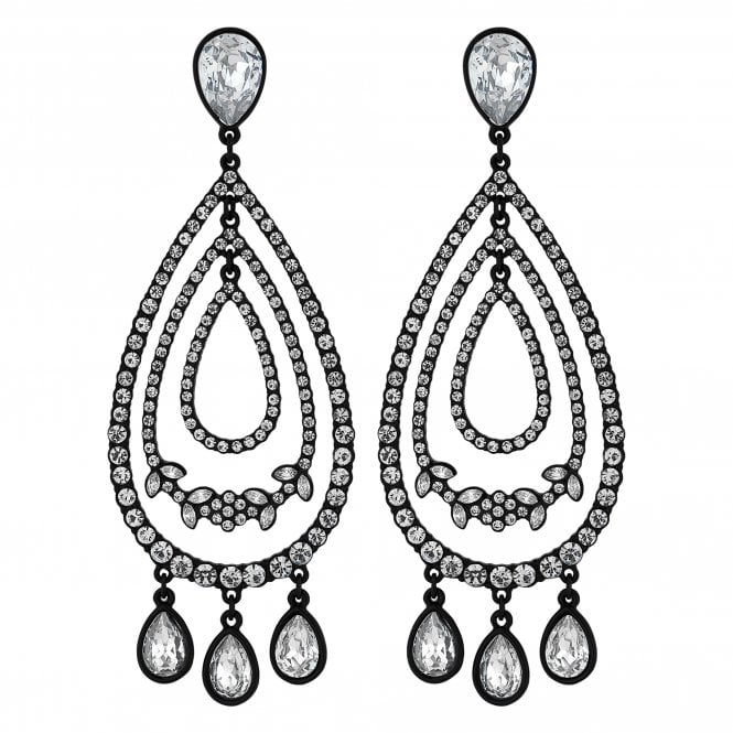 Crystal Floral Peardrop Statement Earring