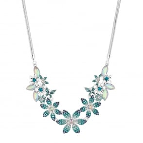 MOOD By Jon Richard Crystal floral statement necklace