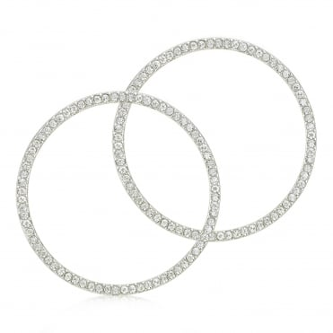 Crystal front facing hoop earring