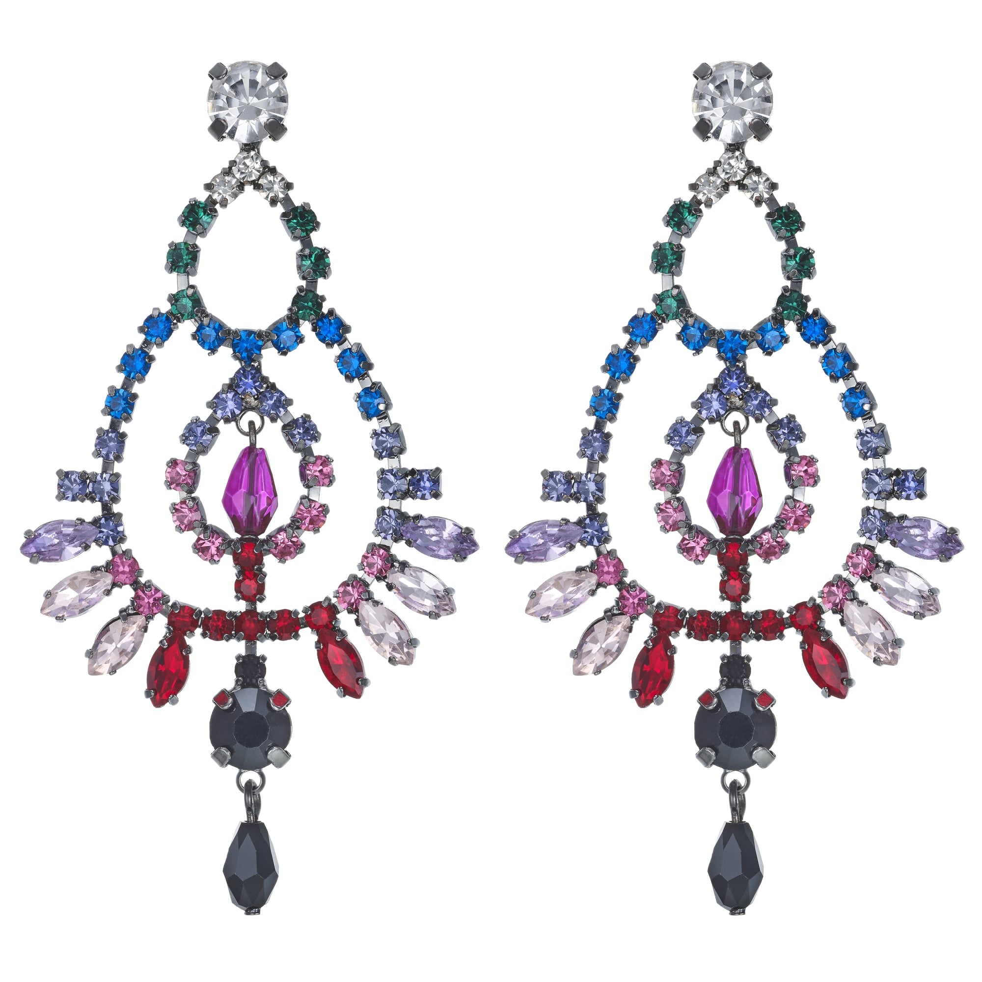chandelier store earrings paillettes diez saskia women jewellery