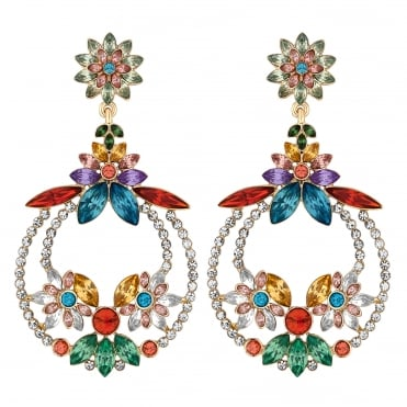 Multi Colour Crystal Statement Earring