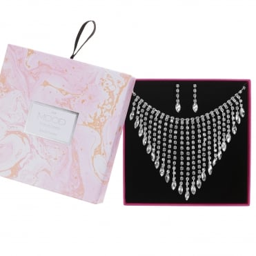 Diamante Graduated Drop Jewellery Set