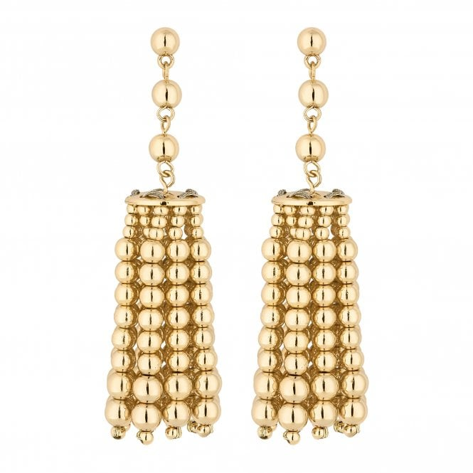 Gold Charm Drop Earring