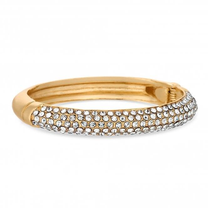 Gold Crystal Embellished Bangle