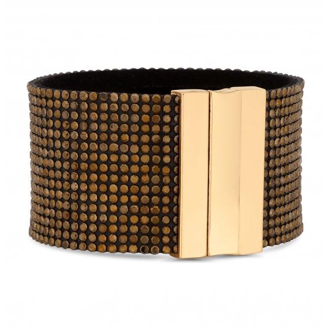 Gold Crystal Sparkle Cuff Bracelet