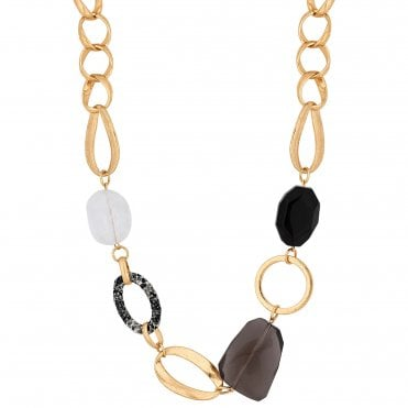 9f1ab5daa Gold Plated Snake Wrap Link Beaded Allway Necklace