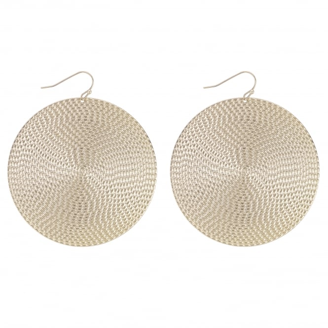 MOOD By Jon Richard Gold Textured Disc Statement Earring