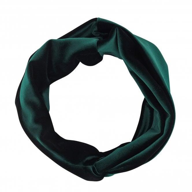 Green Velvet Knot Front Headband