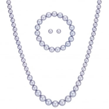 Purple Pearl Jewellery Set