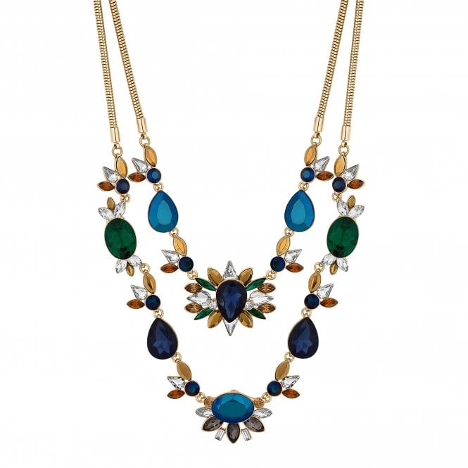 Multi Colour Crystal Baroque Statement Necklace
