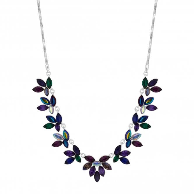 Multi Colour Crystal Statement Necklace