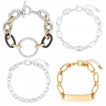 a47351a31 Multi Link Chain Bracelet Pack Of 4