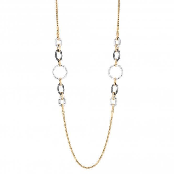 Multi Tone Pave Link Necklace