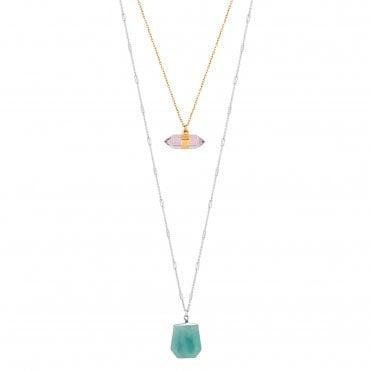 3a64e3c26 Multicoloured Layered Pendant Necklace