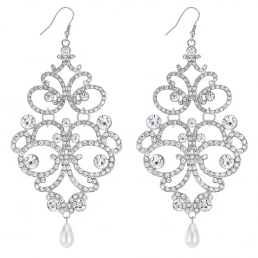 Ornate oversized drop earring