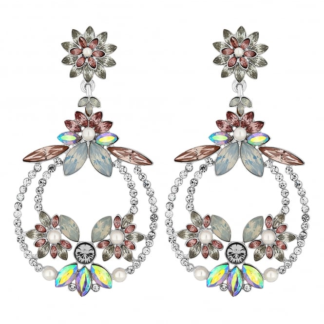MOOD By Jon Richard Multi Colour Crystal Statement Earring