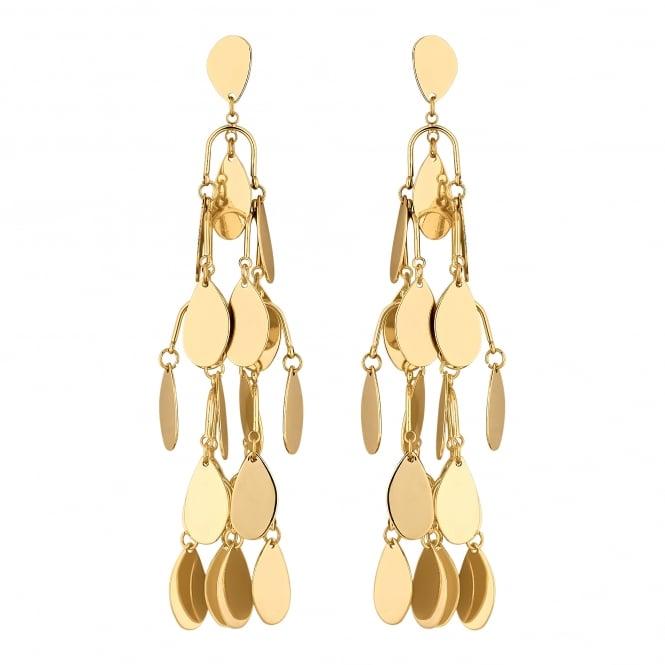 Gold Peardrop Shaker Drop Earring