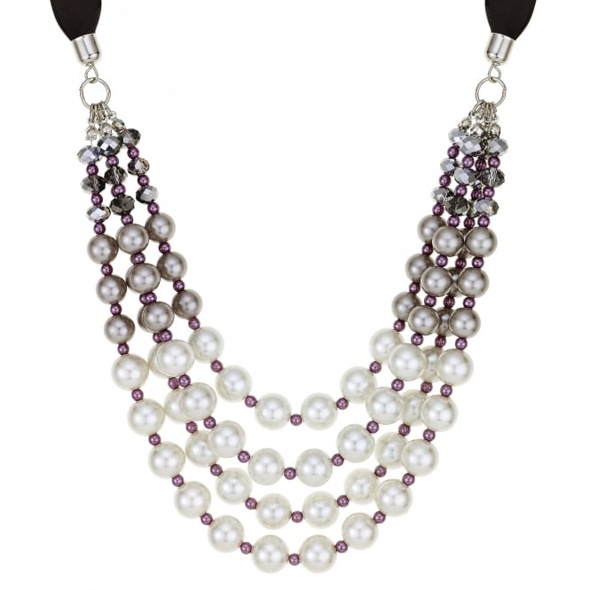 Purple tonal pearl necklace