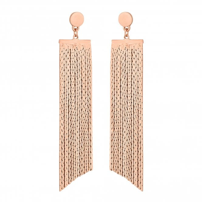 Rose Gold Chain Drop Statement Earring