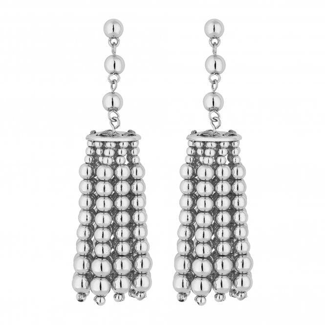 Silver Charm Drop Earring