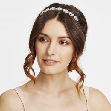 Silver crystal diamante ornate headband